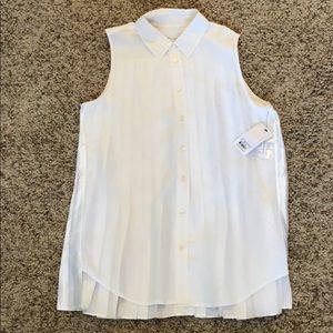 Equipment sleeveless slim signature blouse